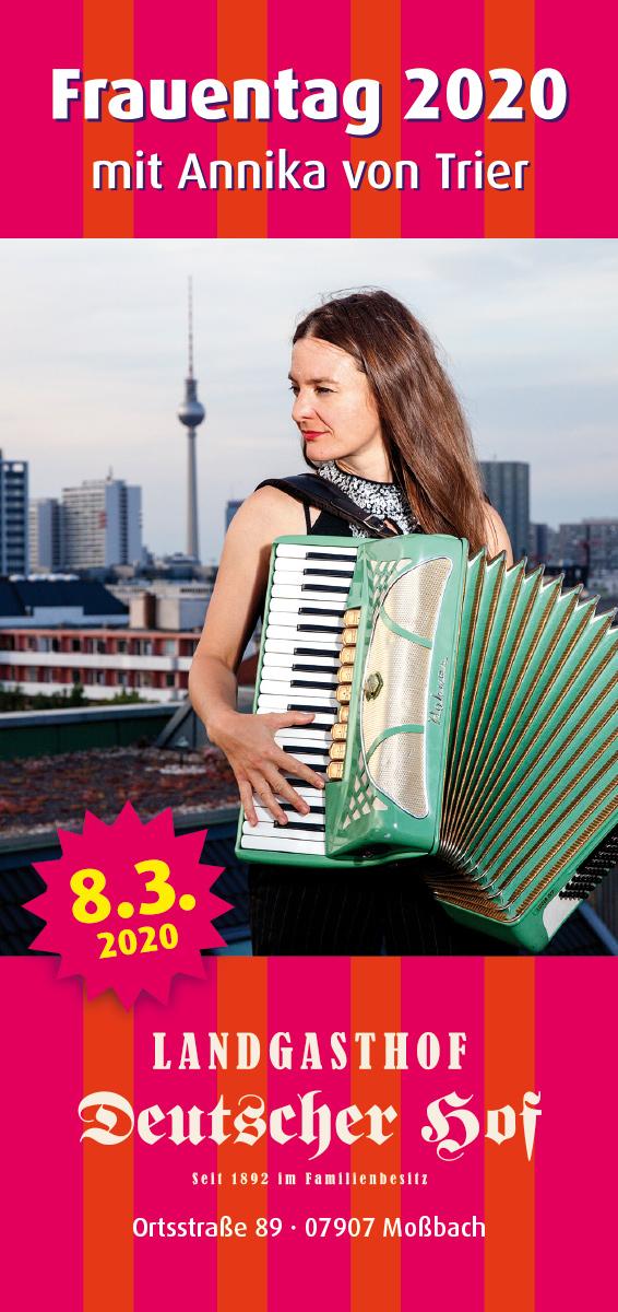 08.03.2020 – Frauentag 2020 mit Annika von Trier